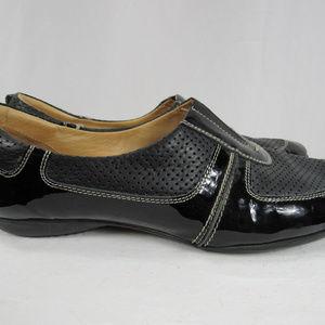 Sesto Meucci 8 Black Leather Slip On Sneakers
